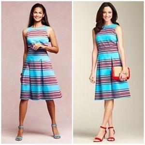 Talbots Mirrored Striped Dress